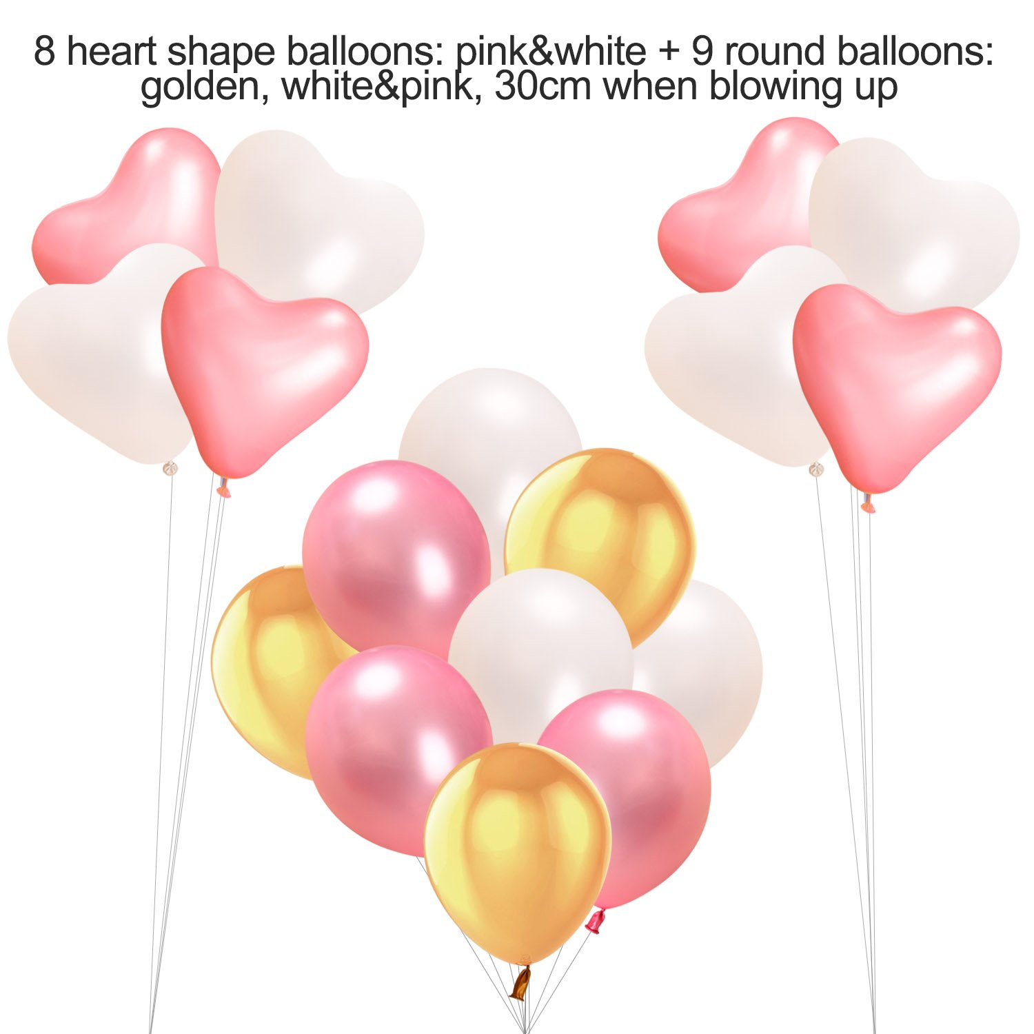 6 Tissue Paper Pompom Balls Birthday Party Decorations Supplies 400cm String Polka Dot Garland for Girls 17 Balloons,15 Triangle Bunting Flags Acelife Happy Birthday 13 Letters Banner Flags