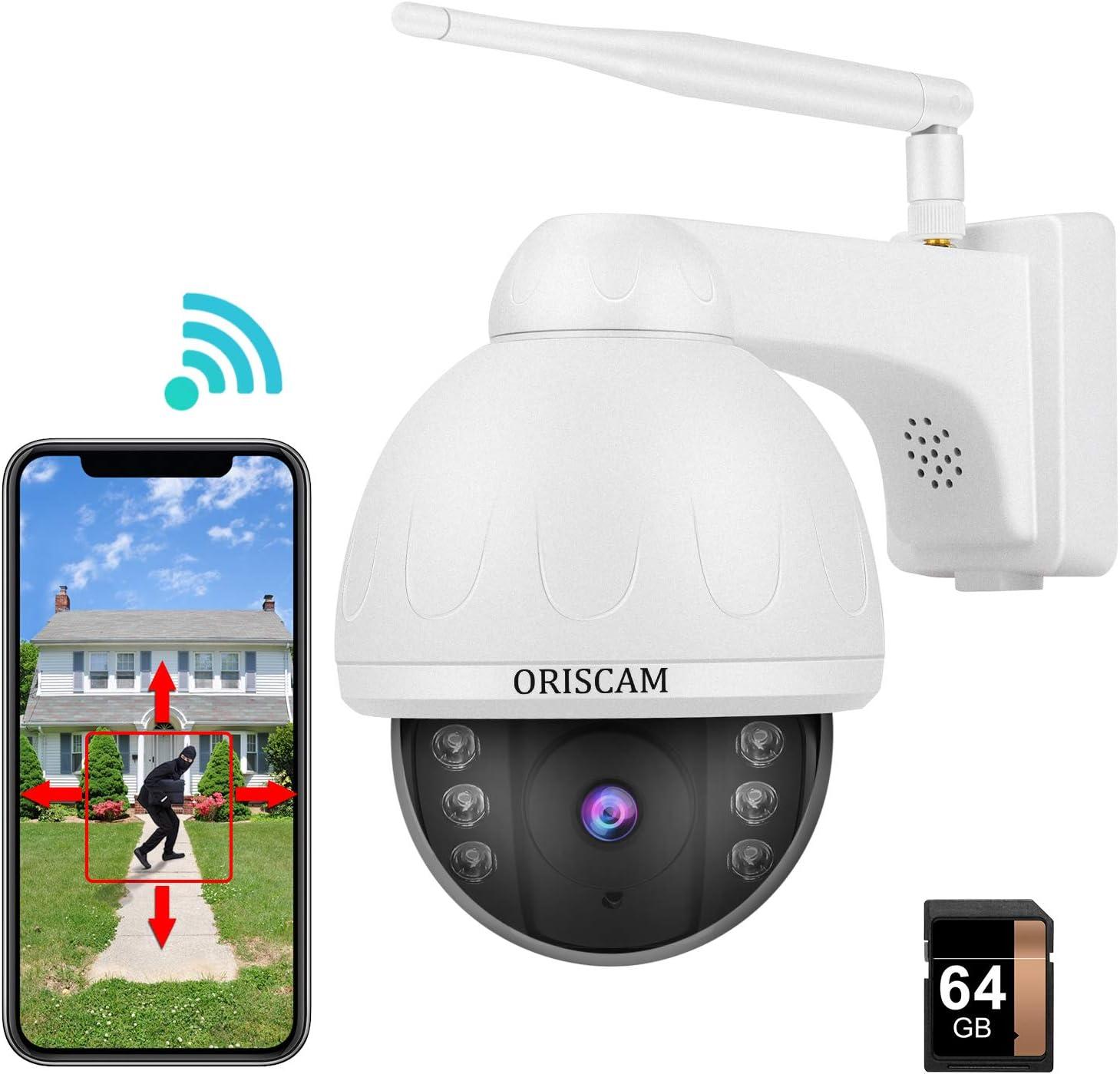 Cámara vigilancia WiFi Exterior, Camaras de vigilancia WiFi 3g/4g 1080P Cámara de Seguridad Resistente al Agua con Visión noturna, Detección y Seguimiento automático, Notificación de Alerta
