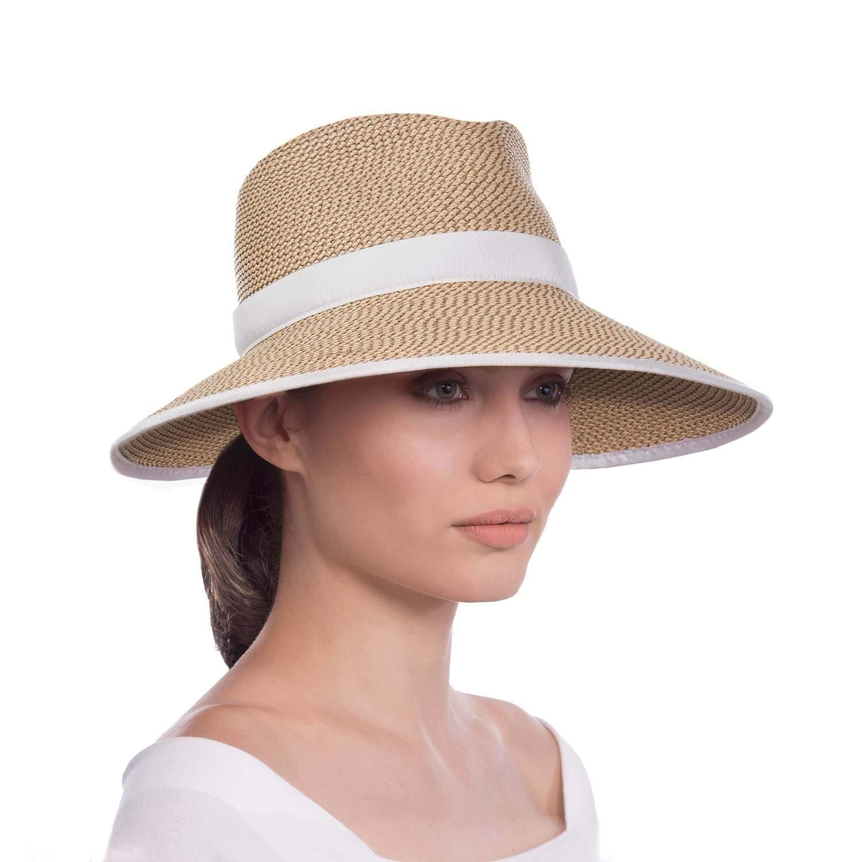 Eric Javits Women's Sun Crest-Peanut/White, One Size