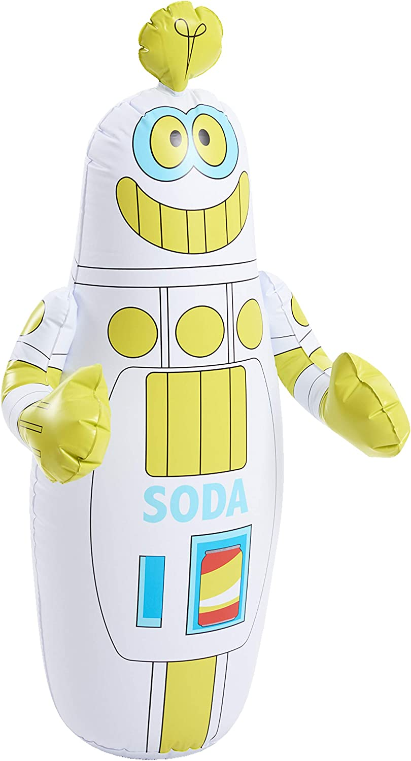 Ready Try to Knock Him Over and He Gets Right Back Up Durable Tough Easy Prepare Punch AIM Care and Store HobbyKids Kids Robot Boppin/' Bag
