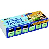 KREUL Hobby Line 75615 - Acryl- Mattfarben Set Pastellfarben 6 x 20 ml
