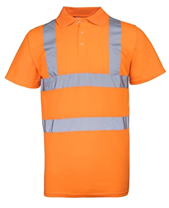 RTY reflectante alta visibilidad Polo Fluorescent Orange XXXXL ...