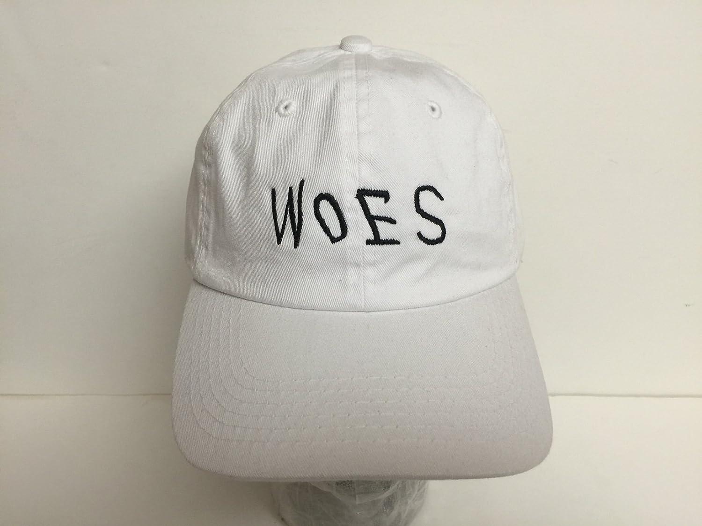 3ee14f1fb28 Amazon.com  Woes White Strapback Hat  Clothing
