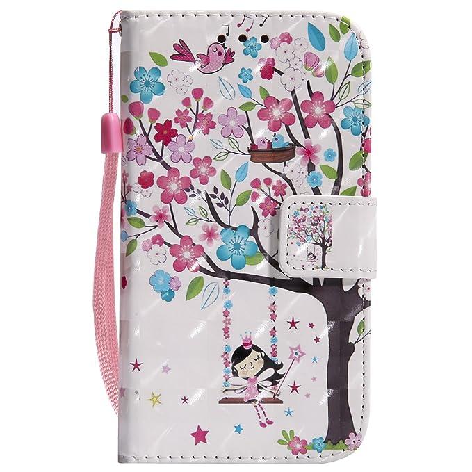 EUWLY Kompatibel mit Samsung Galaxy S4 Hülle Klapphülle Leder Tasche Flip Cover Wallet Case Glänzend Bling Glitzer Handytasch