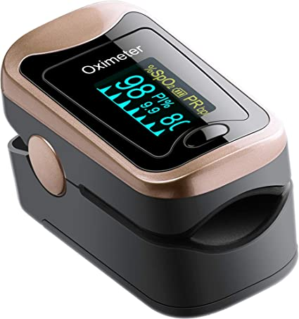 Heart Rate Monitor SpO2 Monitor Portable Digital Reading OLED Display 6 Modes PI Perfusion Index Pulse Oximeter Fingertip Blood Oxygen Saturation