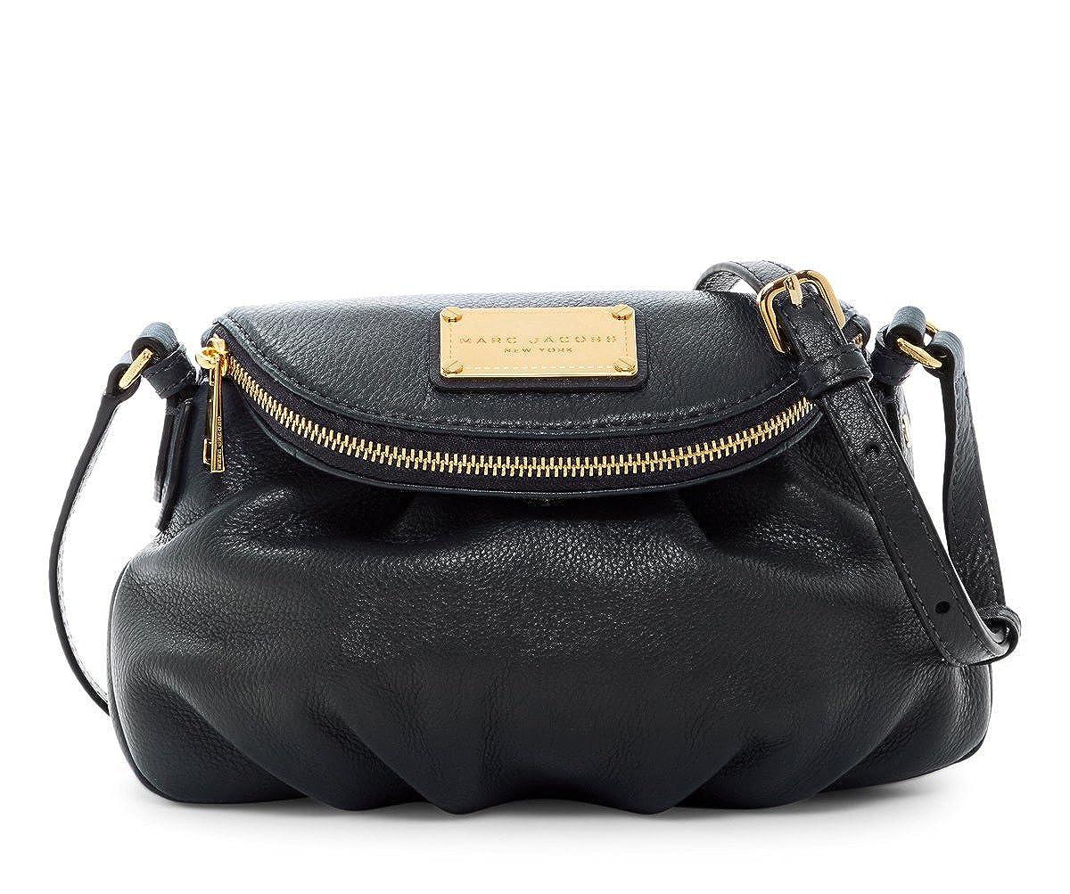 8d52af4c154c Amazon.com  Marc by Marc Jacobs Mini Natasha Leather Handbag (Black)  Shoes