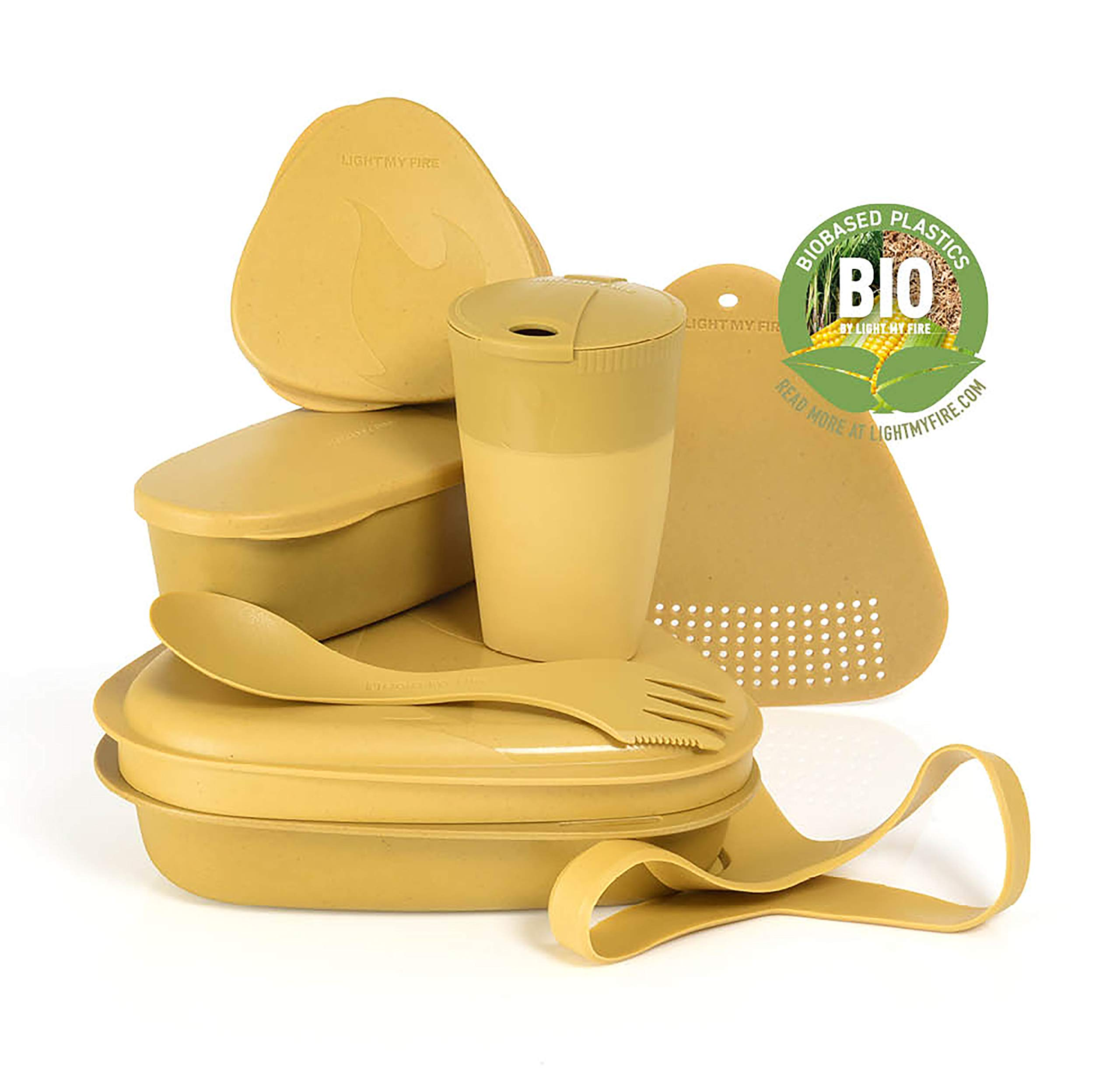 Light My Fire 8-Piece MealKit BIO Camping Mess Kit with Cup, Bowl, Plate, Spork and Storage Containers by Light my Fire