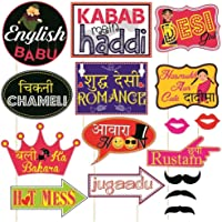 SYGA Set Of 16 Funny Wedding Party Photo Booth Props