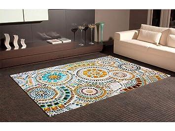 Oedim Tapis Carpette En PVC Motifs Imitation Carrelage Mosaïque - Carrelage salle de bain et tapi deco