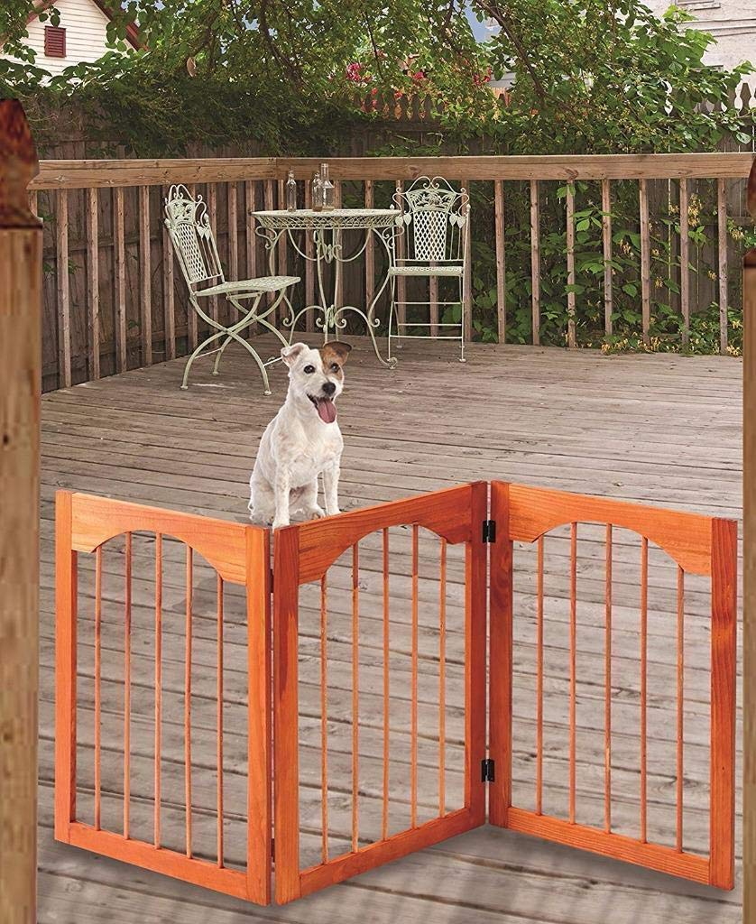 Pet Gate for Dogs – Tall Dog Gate – Dog Gates for Doorways, Stairs, Hallways – Freestanding Gate for Dogs - Wooden Dog Gate Tall
