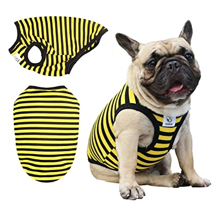be84f1eb26c2 iChoue Pet Dog Vest Shirts Clothing for French Bulldog Pug Boston Terrier  Puppy Soft Tank Top