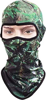 Kingree Balaclava Ski Mask, Motorcycle Helmets Liner Ski Gear Neck Gaiter, Animal Print Series Quick-Dry Mask (18 Skull-Angry)