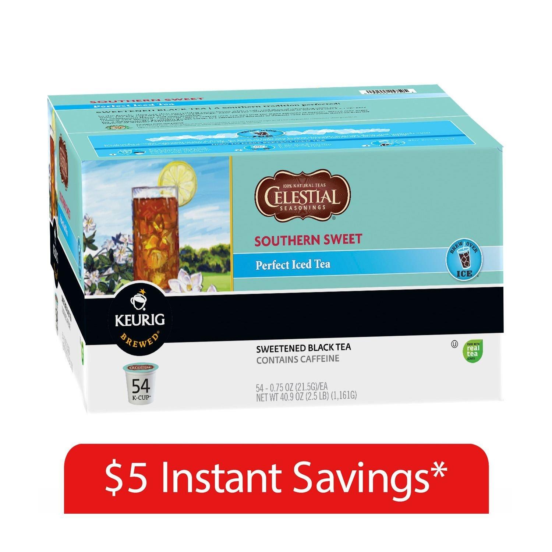 Celestial Seasonings Southern Sweet Perfect Iced Tea K-Cup Packs - 54 ct.