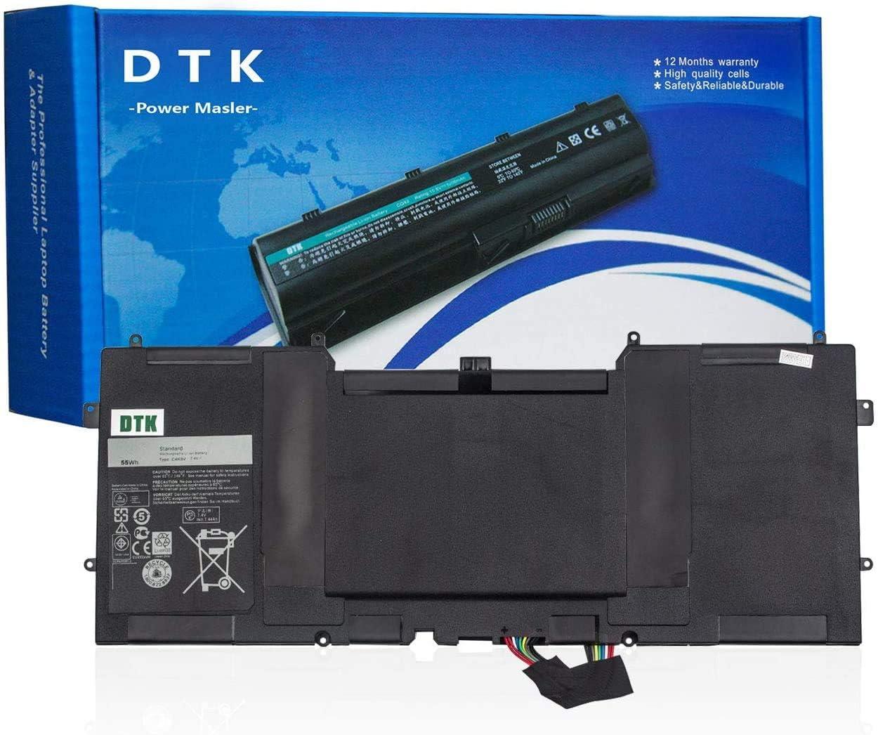 DTK C4K9V Laptop Battery for Dell XPS 13 XPS 13D XPS 13R XPS 13Z XPS 12 XPS 12D Series Replacement C PKH18 Y9N00 489XN 0Y9N00 0PKH18 7.4V 55Wh