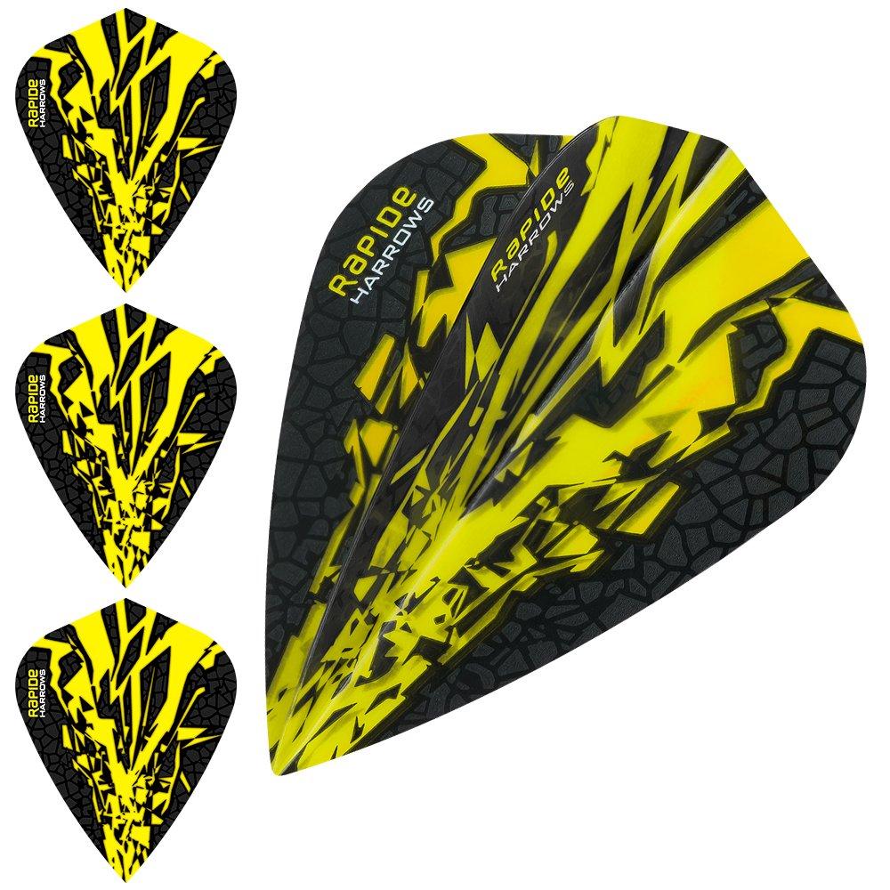 mit geschwungenem Kugelschreiber von Darts Corner 10 Sets insgesamt 30 St/ück 100/Mikrometer Kite-Gelb Harrows Rapide X Dart-Flights