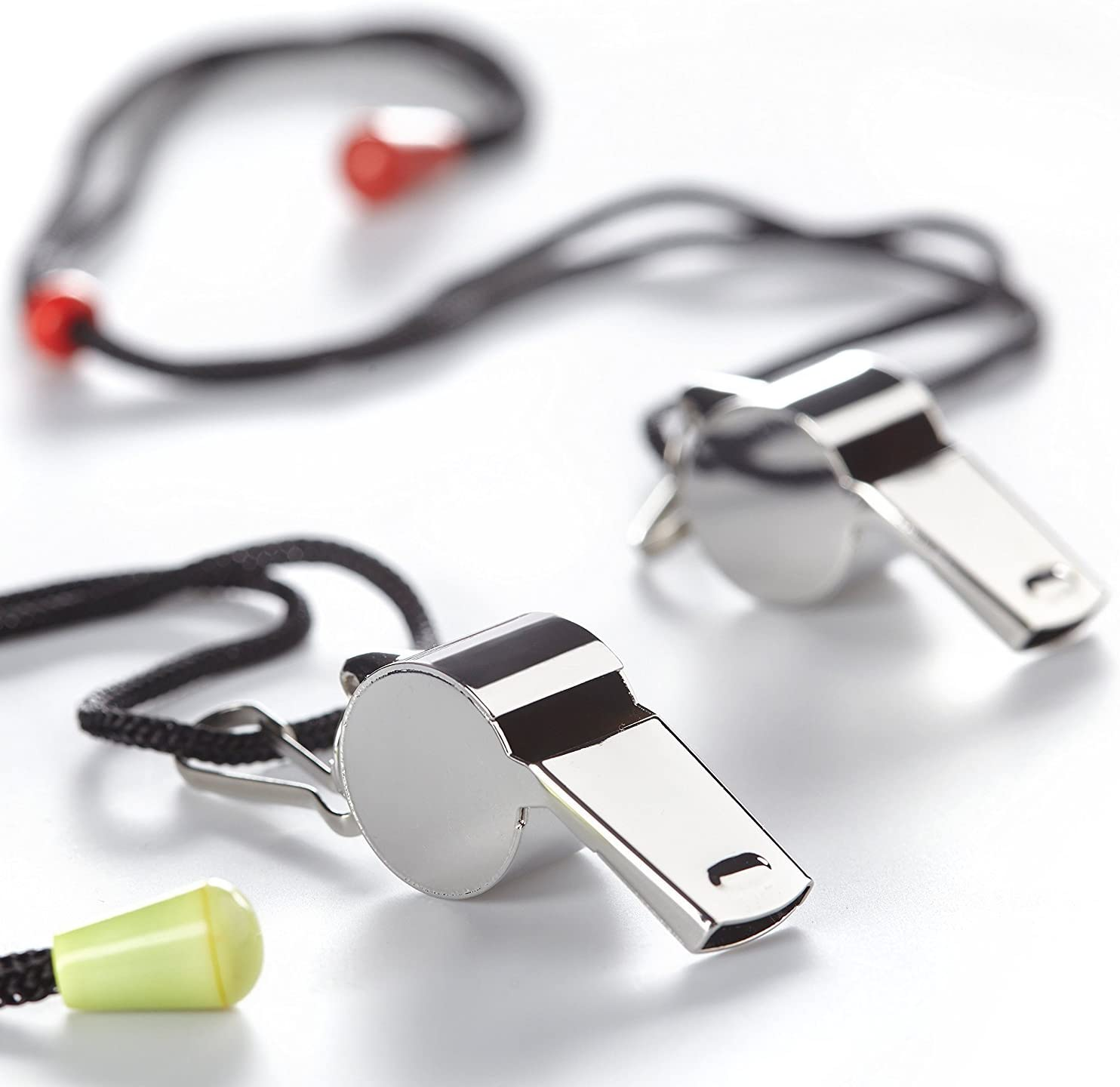 BusyBee Premium Coaches Referee Whistle with Lanyard (2 Pack) in a Funny Gift Pack. Voted #1 Equipment for Officials