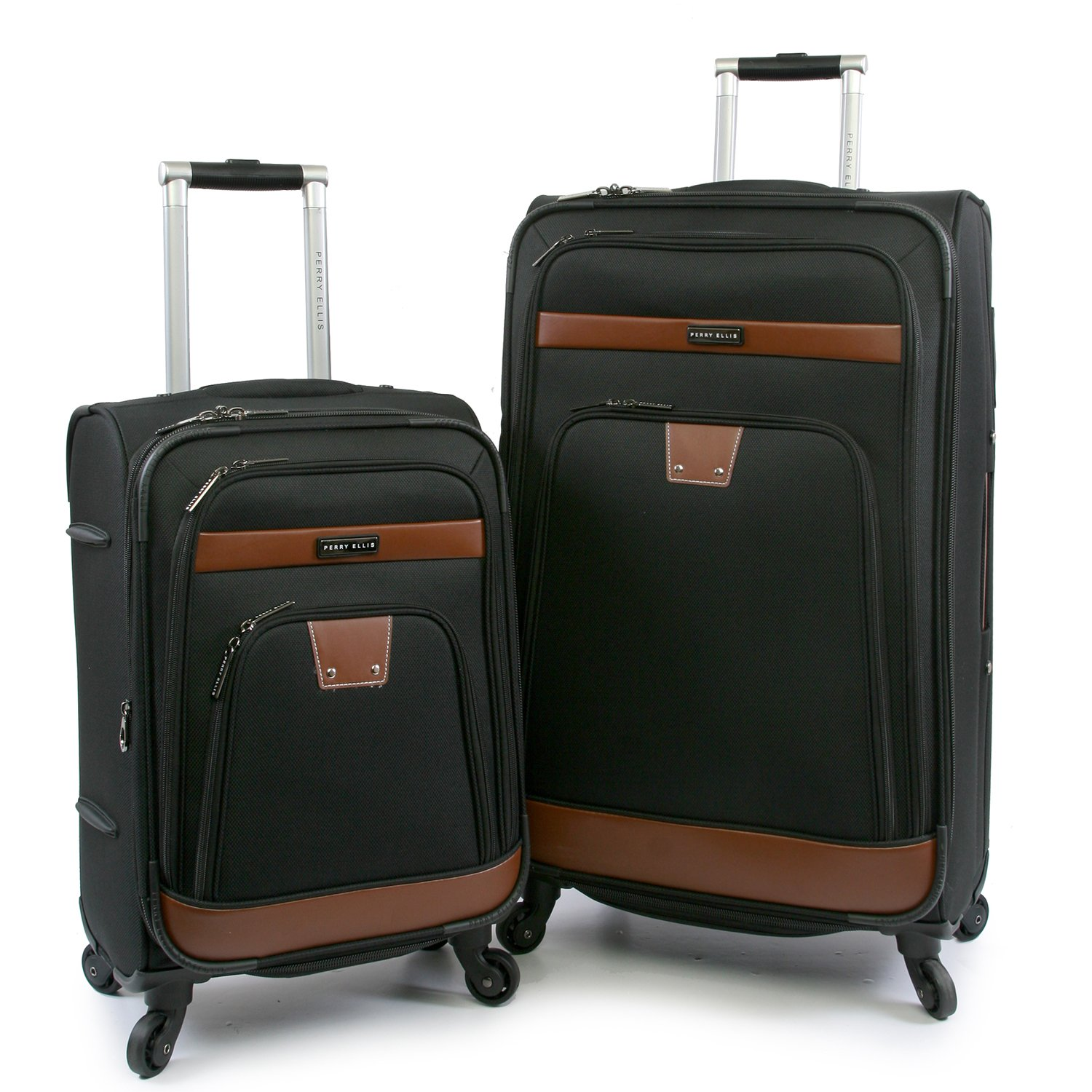 Luggage Premise 2 Piece Set Expandable Suitcase with Spinner Wheels