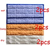 6 Packs Washable Mopping Pads for iRobot Braava Jet 240 241 Included (2 pcs Wet Pads, 2 pcs Damp Pads and 2pcs Dry Pad)