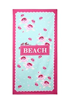 Beach Towels Extra Large Bath Towel Microfibre 150 x 70CM for Women and Girls Great for Swim Spa Travel Yoga Sunbed Cover Green Flower Print