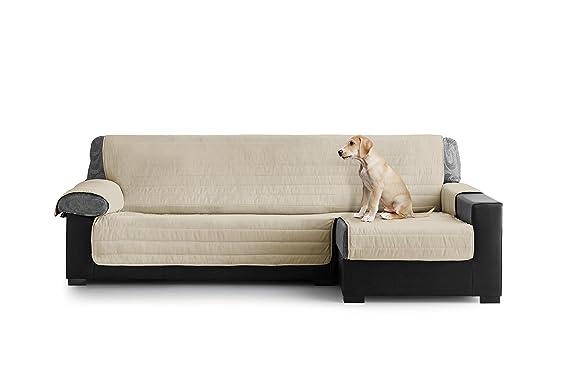 Eiffel Textile Cubre Sofa Acolchado Chaise Longue, Brazo Derecho, Poliéster, Granate, 280x135x3 cm