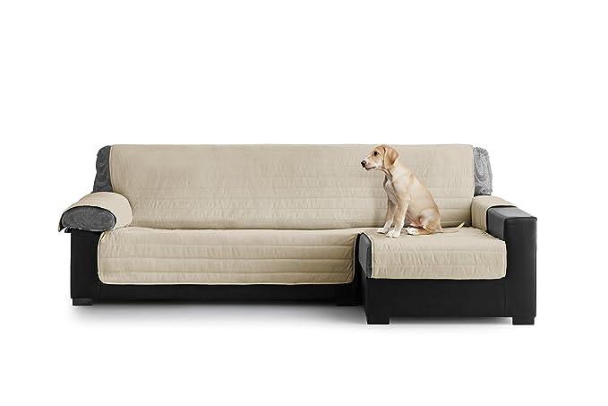 Eiffel Textile Cubre Sofa Acolchado Chaise Longue, Brazo Derecho, Poliéster, Granate, 240x135x3 cm