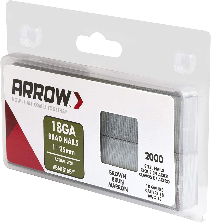 Arrow Fastener BN1816BCS 1-Inch Brown Brad Nails 18-Gauge