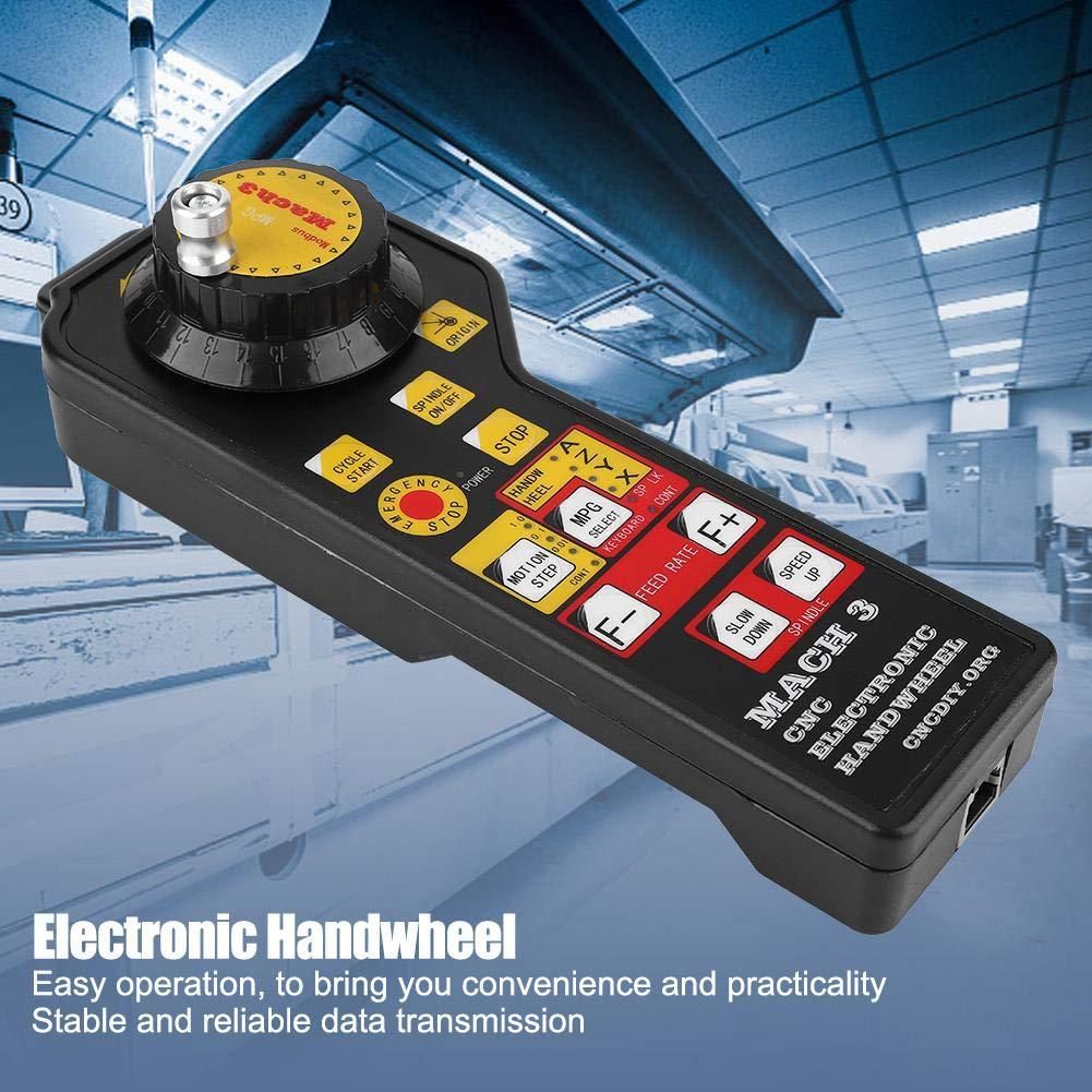 Volante electr/ónico controlador manual del volante USB Mach3 para m/áquina de grabado CNC con codificador