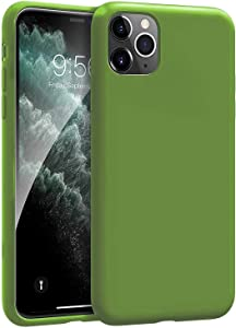 Compatible with iPhone 11 6.1inch(2019) Case,Silicone Gel Rubber Shockproof Slim Shell with Soft Microfiber Cloth Lining Cushion Cover for iPhone 11 6.1inch(2019)-Green
