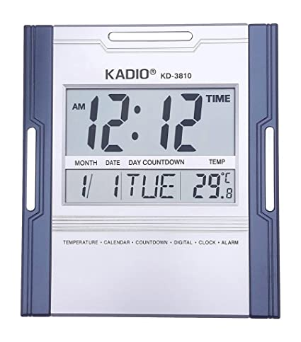 udee Kadio KD-3810 – Reloj digital de pared/mesa con temperatura