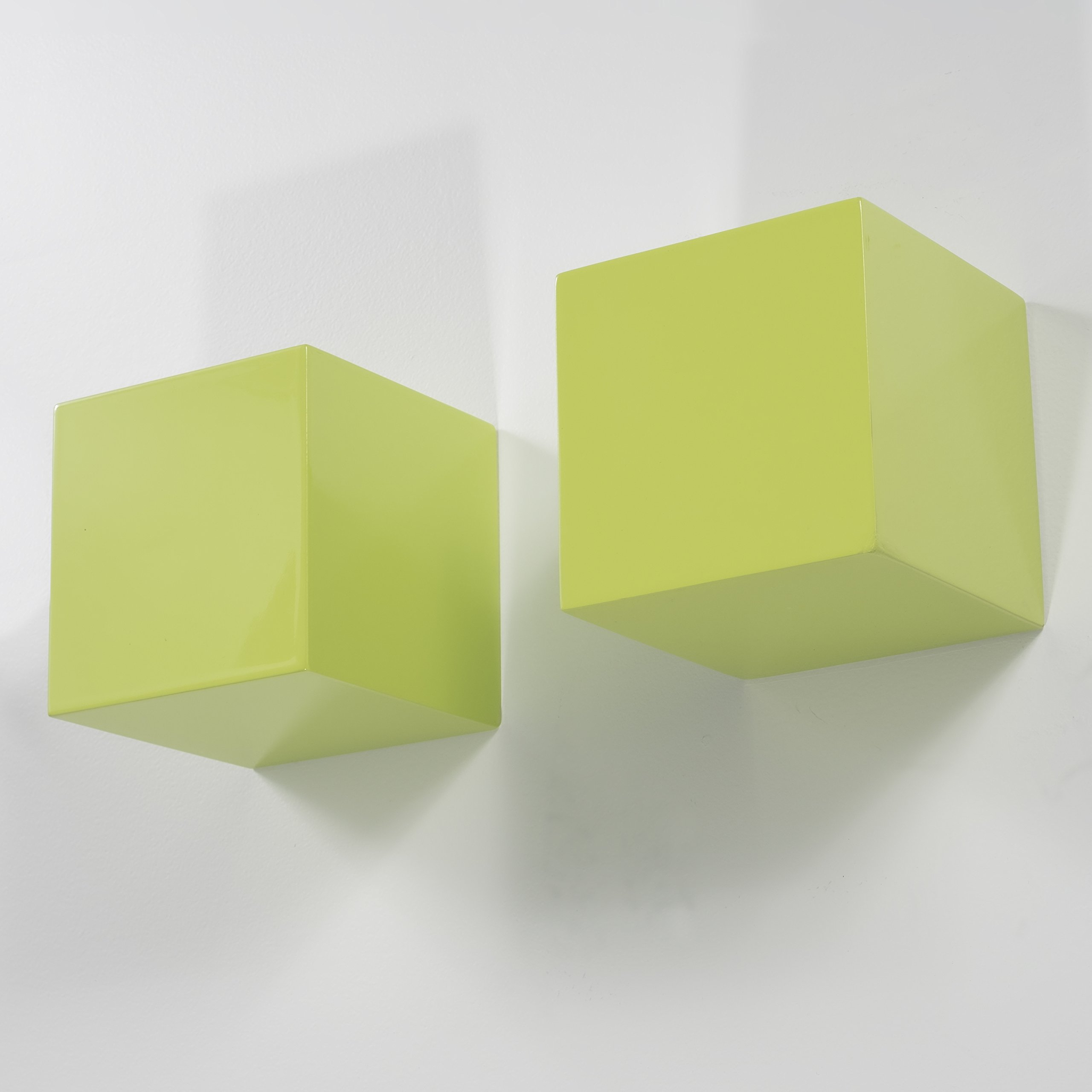 Brightmaison Living Room Decorative Square Wall Cubes Floating Block Shelves Set of 2 (Green) by Brightmaison