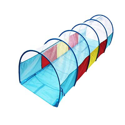 POCO DIVO Arch Play Tunnel Crawling Tube Kids Hide-Seek Toy Dome Children Mesh Top Color Tent: Toys & Games