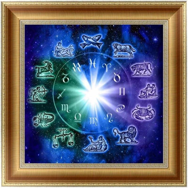 KOFUN 5D Pintura Diamante Bricolaje, 5D Constelación Cuadro Pintura Pintura DIY por Números Diamantes Bordado Pintura Kit de Punto de Cruz DIY Decoración 35x35 cm