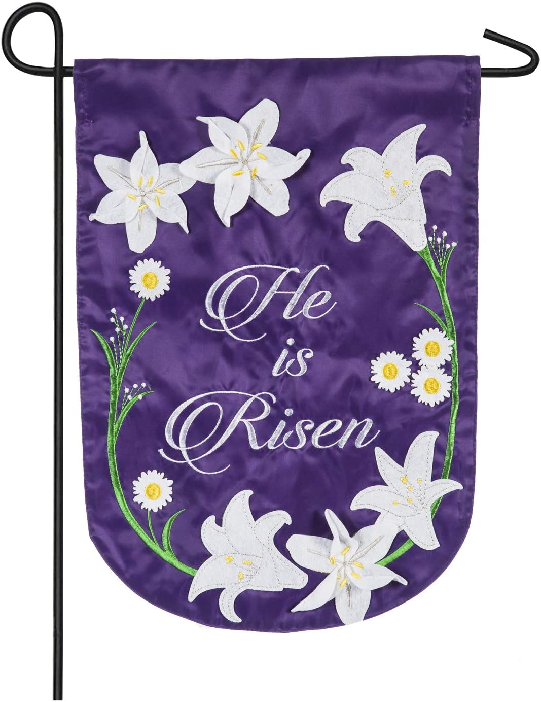 Easter Lily Garden Applique Flag - 13 x 1 x 18 Inches