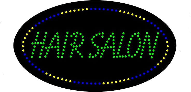 LED Barber Shop Open Light Sign Super Bright Electric Advertising Display Board for Hair Salon Hair Cut Business Shop Store Window Bedroom Decor 30 x 30 inches