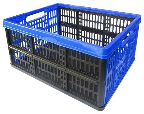 Caja Plegable de plástico 32L 18 kg, Medidas 47.5 x 34 x 23 cm,