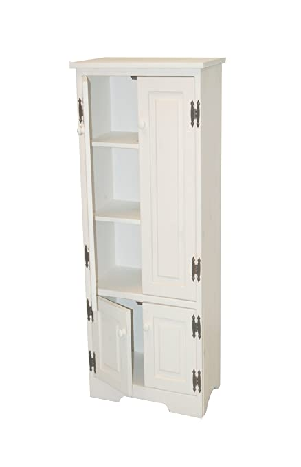 Beau Target Marketing Systems TMS Extra Tall Pine Cabinet, White