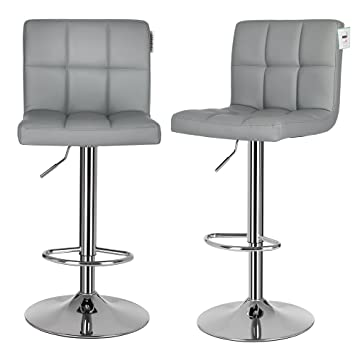 Attrayant SONGMICS 2 X Bar Stools, Bar Chairs Set With Backrest, Large Seats,  Breakfast