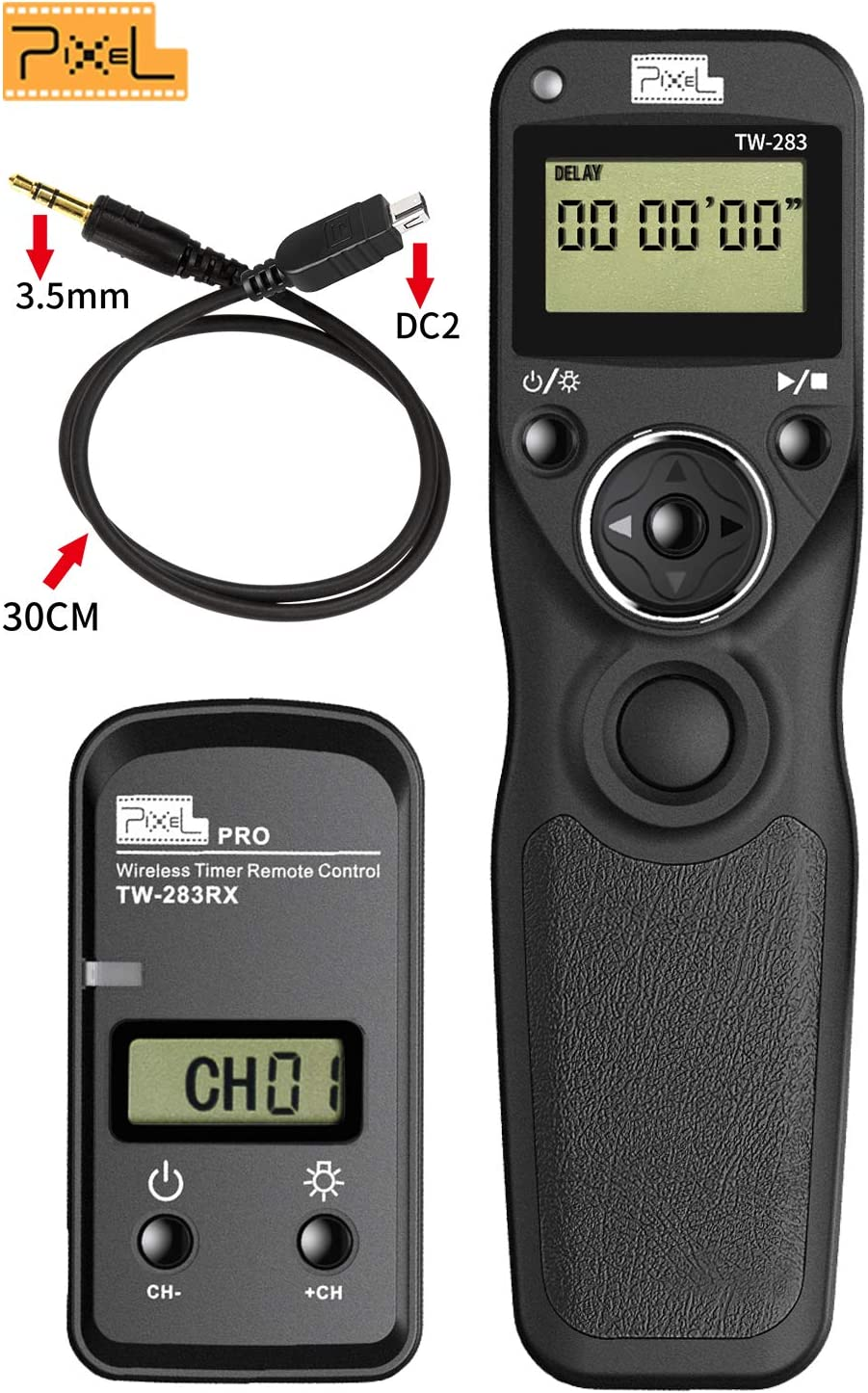 Temporizador LCD remoto disparador cable para Nikon D90 D3200 D5200 D610 D7000 D7100