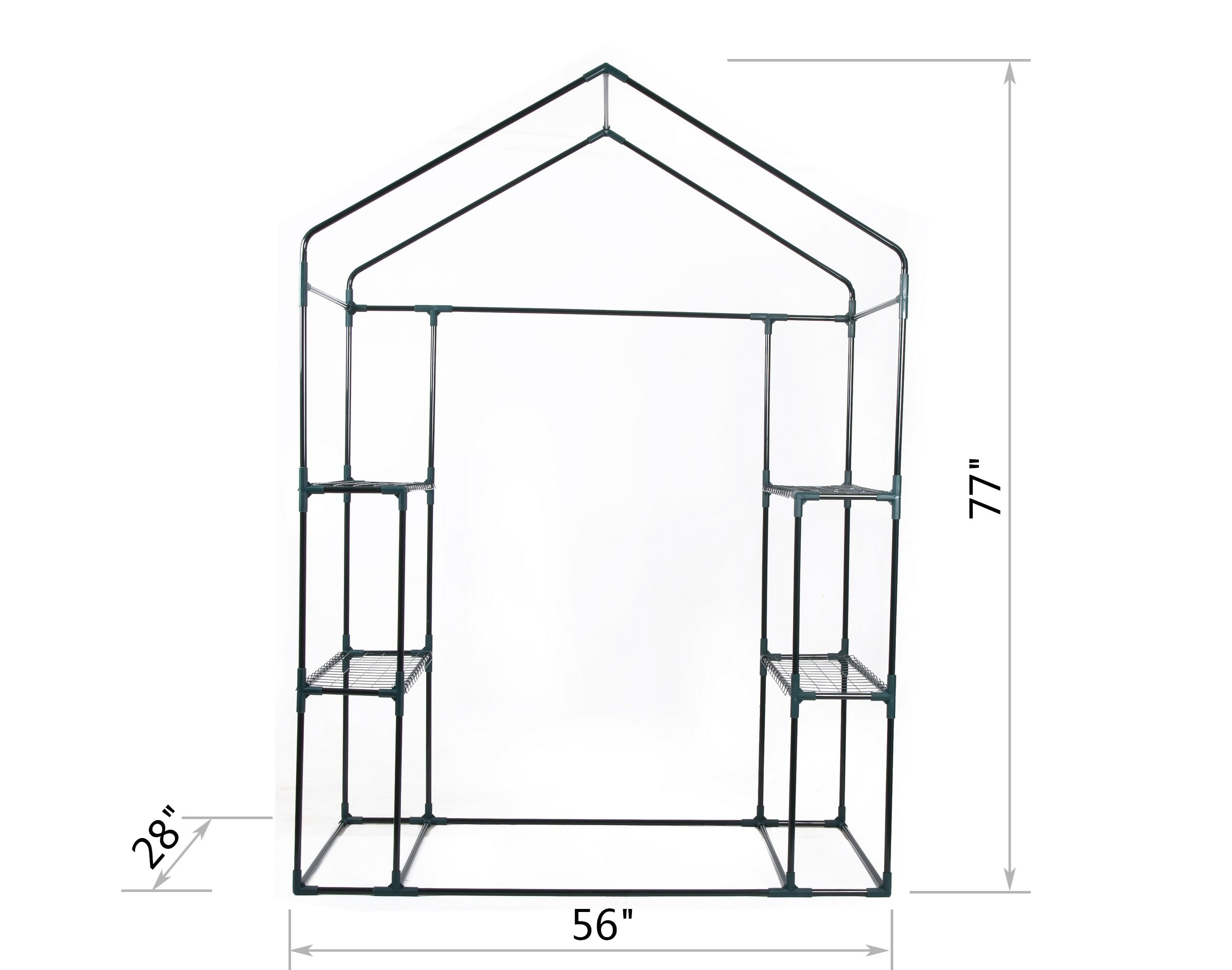 GOJOOASIS Walk in Portable Garden Greenhouse Mini Plants Shed Hot House with 3 Tiers by GOJOOASIS (Image #2)