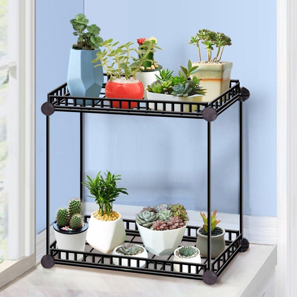 Soporte de flores del arco iris Rack de Flores de Hierro Forjado de Múltiples Funciones Oficina Table Table Shelf Maceta Estante (Color : B)