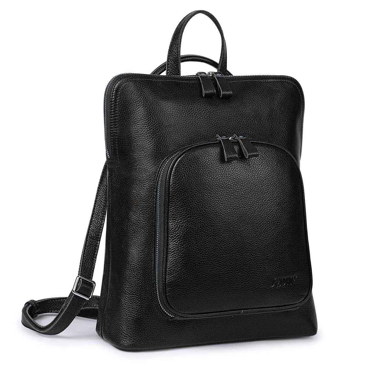 S-ZONE Women Soft Leather Backpack Travel Daypack Shoulder Bag