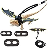 Adjustable Lizard Leash Bearded Dragon Harness Cool Leather Wings Safety Walking Leash(S,M,L,3pack)