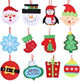 Sattiyrch - Adornos Colgantes para árbol de Navidad, diseño de Papá Noel, muñeco de Nieve, 12 Unidades