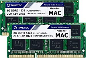 Timetec Hynix IC 16GB KIT(2x8GB) Compatible for Apple DDR3 1333MHz PC3-10600 for MacBook Pro (Early/Late 2011 13/15/17 inch), iMac(Mid 2010, Mid/Late 2011 21.5/27 inch), Mac Mini(Mid 2011) RAM Upgrade