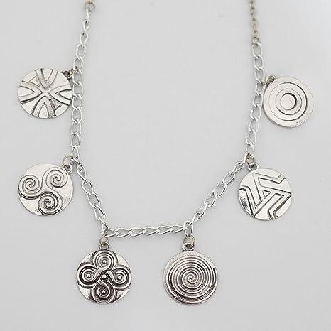 Amazon Teen Wolf Inspired Symbols Charm Necklace Werewolf