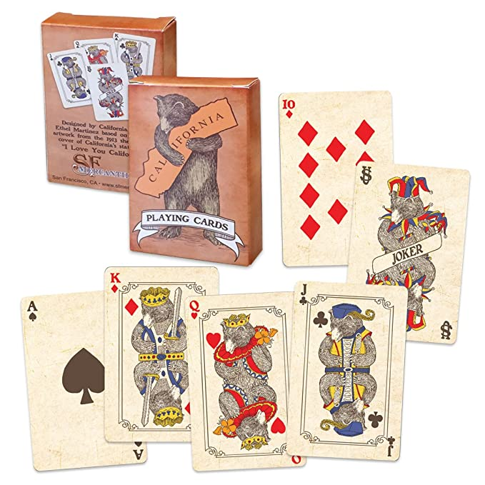 Amazon SF Mercantile California Bear Hug Playing Cards Toys Games