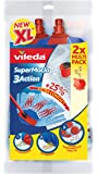 Vileda SuperMocio 3Action XL Refill, Refill Twin Pack