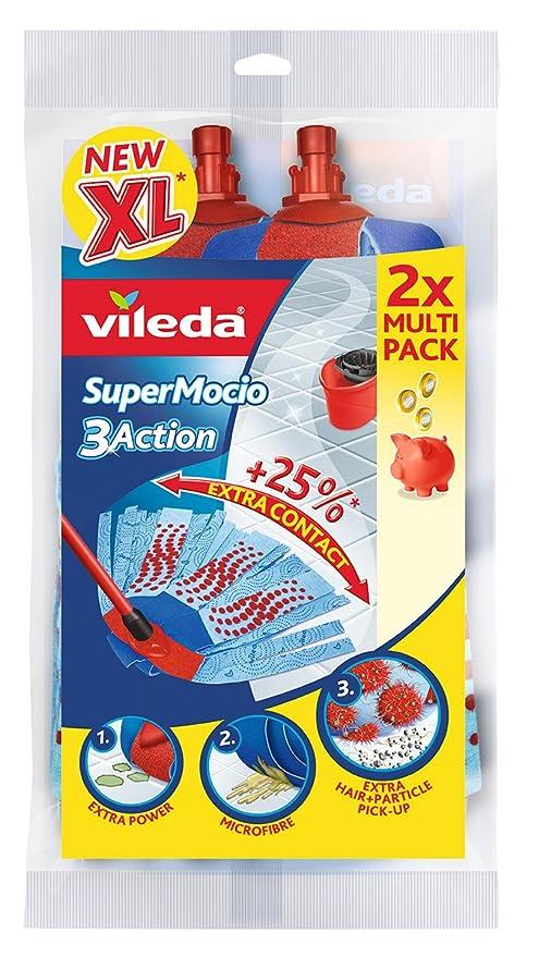 Vileda 122615 SuperMocio Action - Pack de recambio para la fregona Vileda SuperMocio
