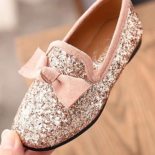 2a449537e1497 Xmiral Chaussure Enfant Fille Danse Bowknot Crystal Bling fête Princesse  Soulier  Amazon.fr  Chaussures et Sacs