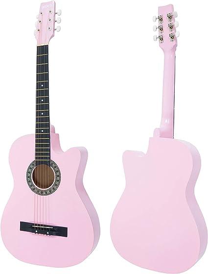 Guitarra acústica ligera para niños de 96,52 cm, ligera, de madera ...